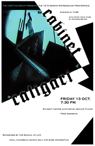 Thumbnail of screenshot for Movie Poster for the Cabinet of Dr. Caligari