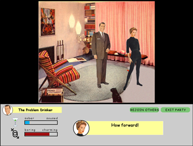 Thumbnail of screenshot for Cocktails and Conquests: an Experimental Narrative for Video Game Format